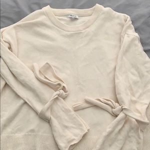 Madewell tie sleeve sweater